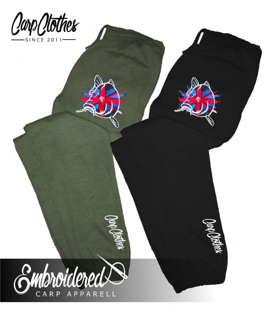 011 EMBROIDERED CARP JOGGERS